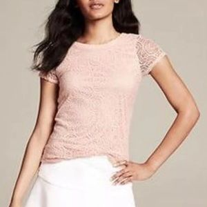 Lovely Banana Republic Pale Embroidered Top